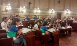 El Programa Jóvenes al Senador con alumnos de La Criolla.