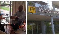 Rodrigo Borla fue recibido por el Director Provincial de Vialidad.