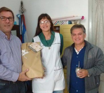 ENTIDADES DE GOBERNADOR CRESPO RECIBIERON HOY APORTES ECONOMICOS DEL SENADO PROVINCIAL.