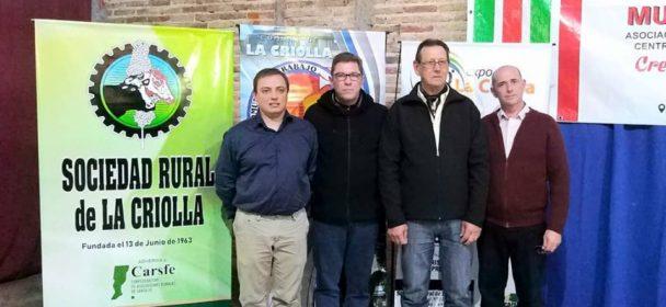 BORLA RECORRIÓ OTRA OBRA DEL GOBIERNO PROVINCIAL EN GOBERNADOR CRESPO.